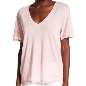 Abound Pink Burnout V-Neck Tee